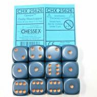 Drustvena igra, Beograd, Prodaja, Srbija, Chessex D6 Dusty Blue with Copper