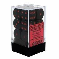 Drustvena igra, Beograd, Prodaja, Srbija, Chessex D6 Black with Red