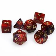 Dungeons & Dragons, FRP, Srbija, Prodaja Beograd, Kockice, Chessex Gemini - Purple Red with Gold
