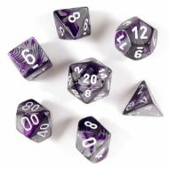 Dungeons & Dragons, FRP, Srbija, Prodaja Beograd, Kockice, Chessex Gemini - Purple Steel with White