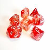 Dungeons & Dragons, FRP, Srbija, Prodaja Beograd, Kockice, Chessex Nebula Red with Silver